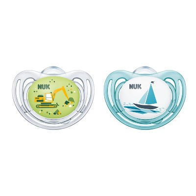 NUK Airflow Glow-in-the-Dark Pacifiers, 6-18M - 2pk Blue