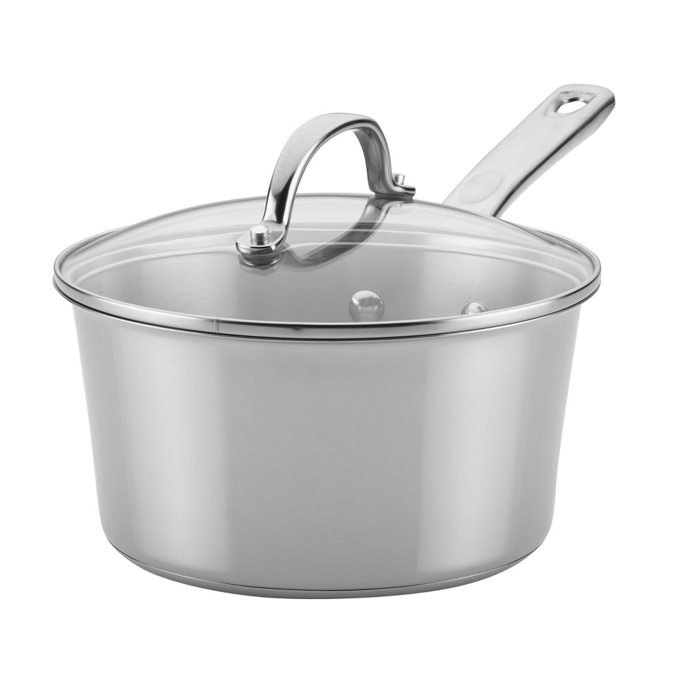 Image of Ayesha Curry 3qt Home Collection Stainless Steel (Silver) Covered Saucepan