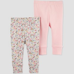 Baby Girls' 2pk Floral Leggings - Just One You® made by carter's Pink