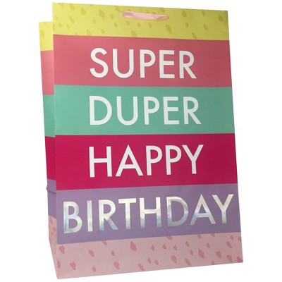 "XLarge ""Super Duper Happy Birthday"" Gift Bag - Spritz™"