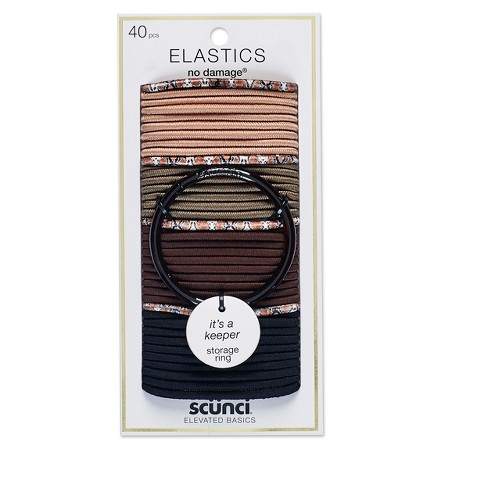 Scunci 4mm No Damage Elastics with Bonus Ring Holder - 40pk - image 1 of 2