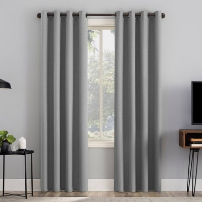 Channing Textured Draft Shield Fleece Insulated 100% Blackout Grommet Top Curtain Panel - Sun Zero