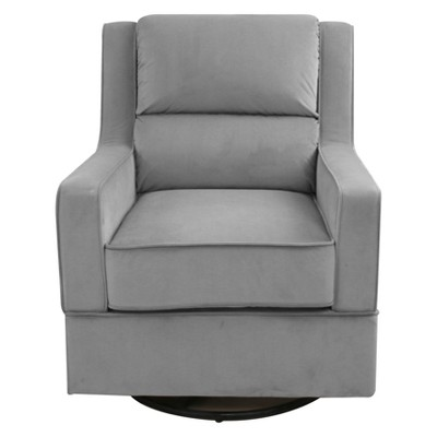 Pleasing Jalisa Nursery Swivel Microfiber Rocking Chair In Gray Pdpeps Interior Chair Design Pdpepsorg