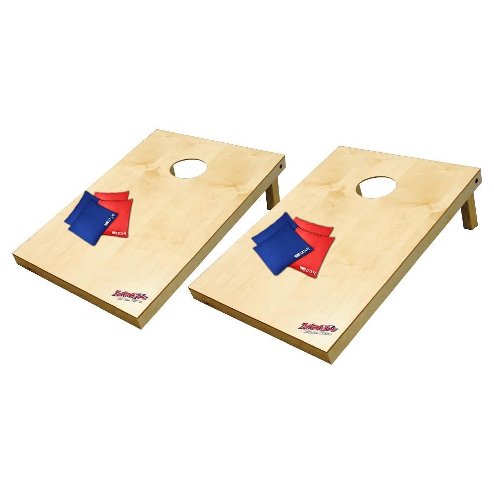 Image of Wild Sports Platinum Wooden Cornhole Bag Toss Set - 2x3 ft.
