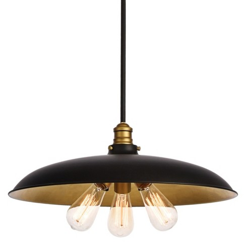 """Elegant Lighting LD8004D20 Anders 3 Light 20-1/2"""" Wide Pendant with Metal Shade - image 1 of 4"""
