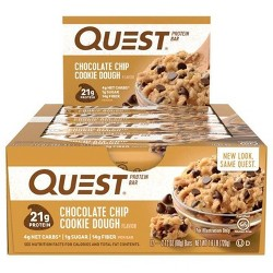 Quest Protein Bar - Chocolate Chip Cookie Dough - 12ct