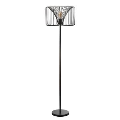 "61"" Gridley Metal Led Floor Lamp Black (Includes Energy Efficient Light Bulb)   Jonathan Y by Jonathan Y"