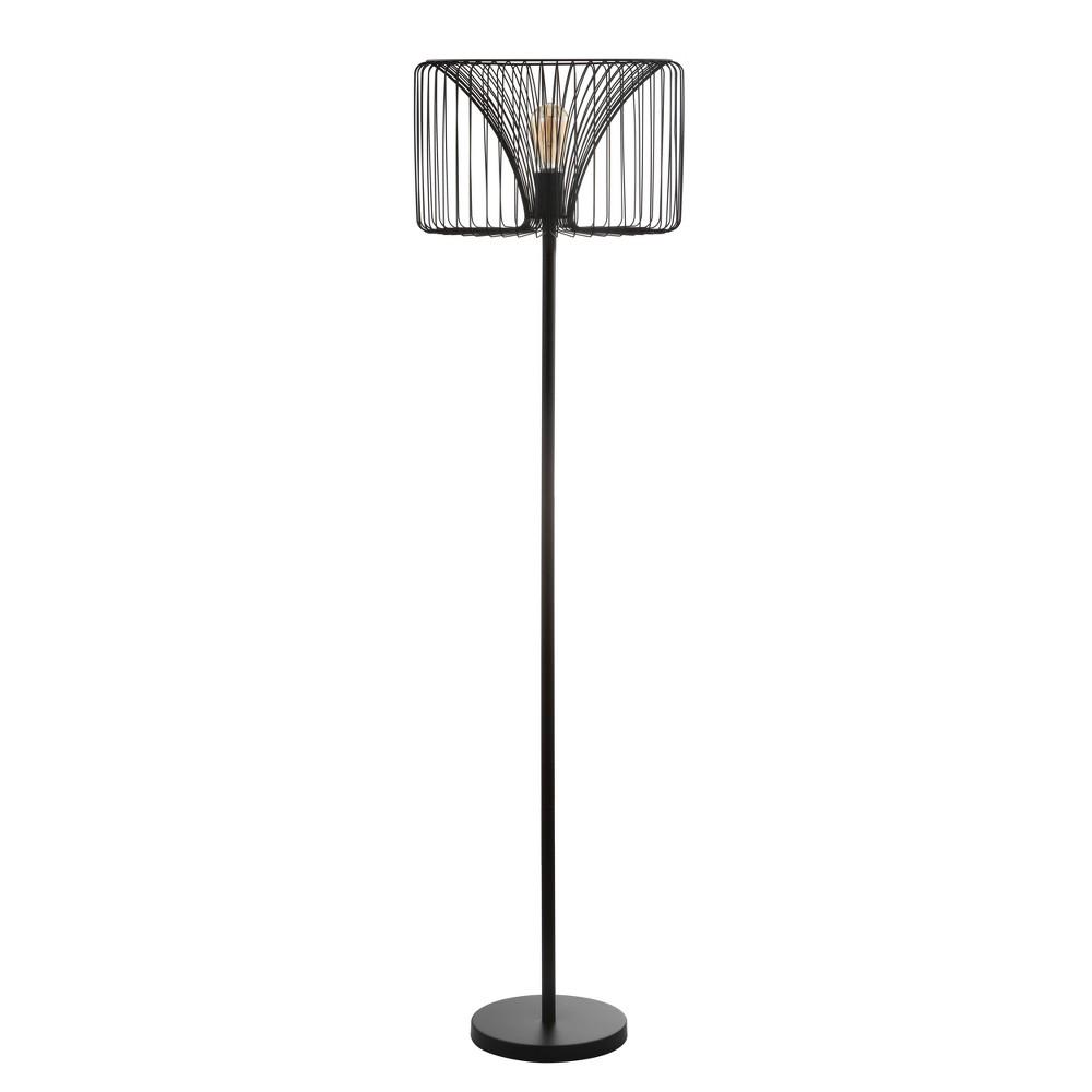 61 Gridley Metal Led Floor Lamp Black (Includes Energy Efficient Light Bulb) - Jonathan Y