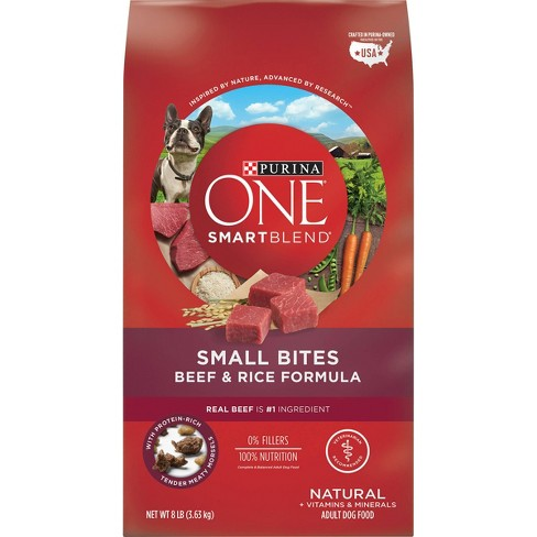 Purina® ONE SmartBlend Small Bites Beef & Rice Formula Adult Premium Dry Dog Food - image 1 of 4