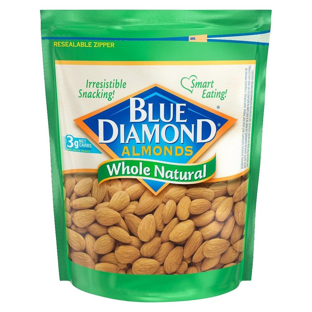 Blue Diamond Almonds Whole Natural - 12oz