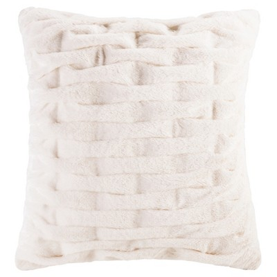 Ivory Solid Throw Pillow