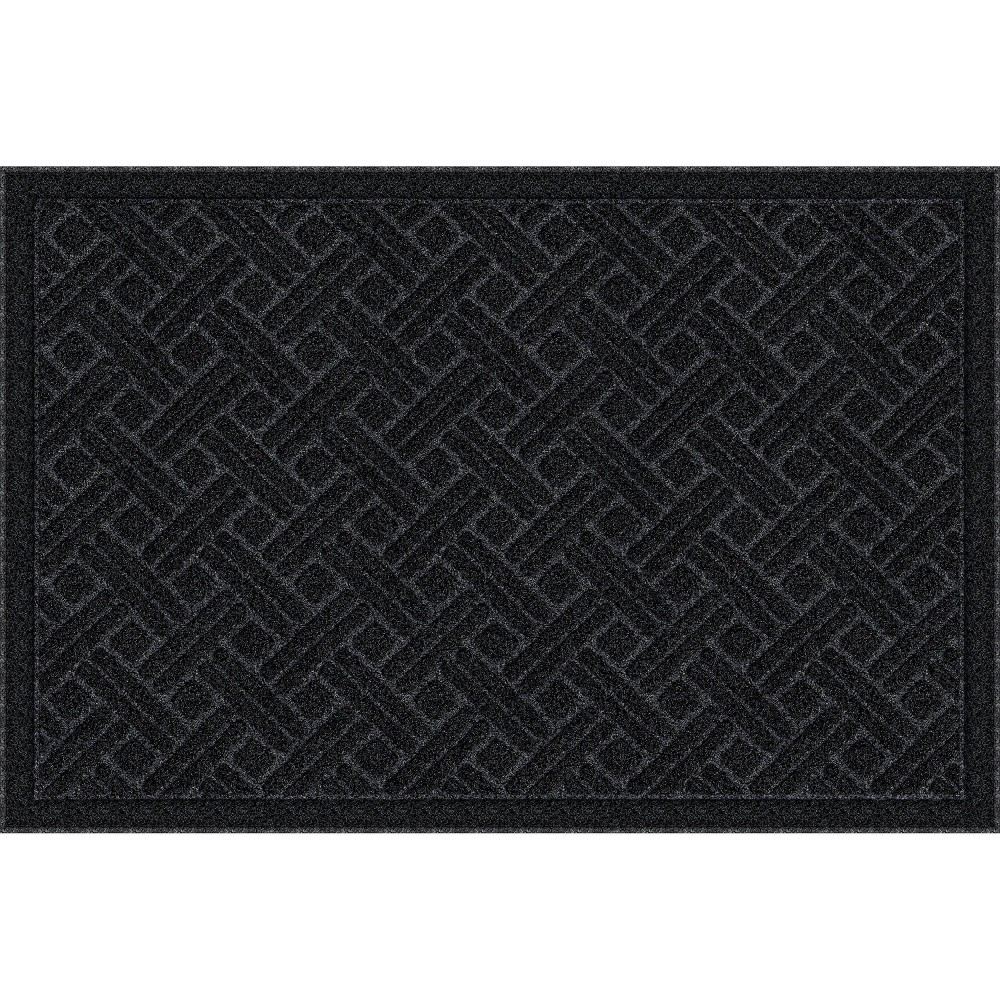 Image of 2'x3' Mega Scrapper Lattice Grate Doormat Black - Apache Mills