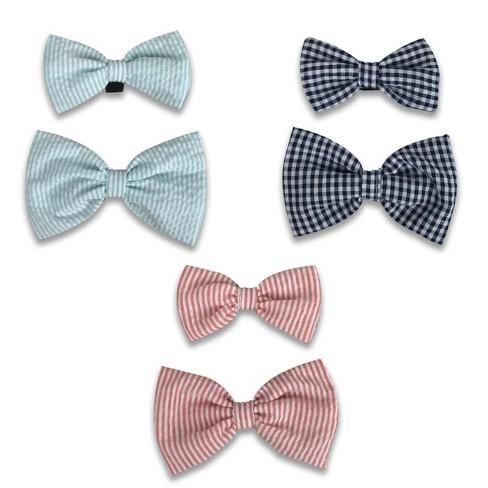 3pk Owner/Pet Bow Tie Set Aqua/Blue/Red - Bullseye's Playground™ - image 1 of 1