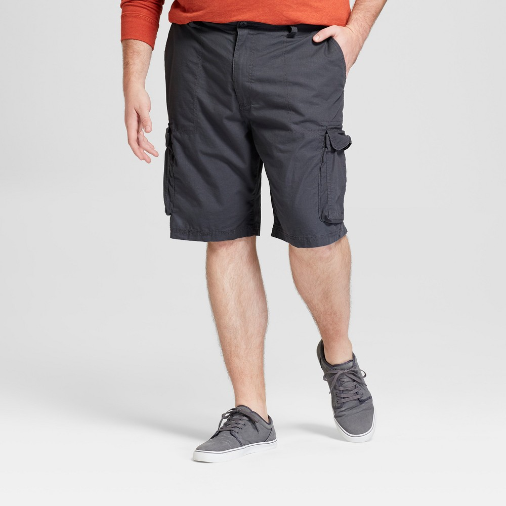 Men's 11 Big & Tall Ripstop Cargo Shorts - Goodfellow & Co Railroad Gray 50