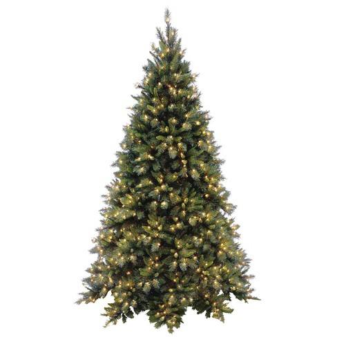 National Tree Company 7.5ft Tiffany Fir Full Artificial Tree 700ct Clear - image 1 of 1