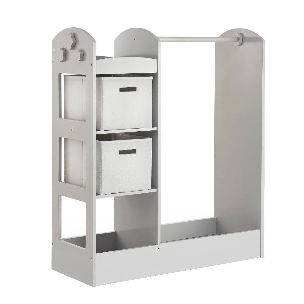"Image of ""Clothing Armoire 42"""" Gray - Guidecraft, Green"""