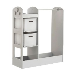 """Clothing Armoire 42"""" Gray - Guidecraft"""