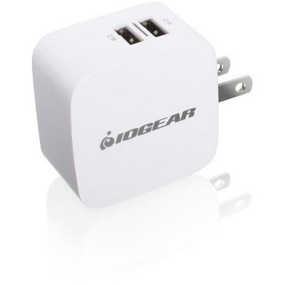 IOGEAR GearPower Dual USB 4.2A (20W) Wall Charger - 110 V AC, 220 V AC Input - 5 V DC/4.20 A Output