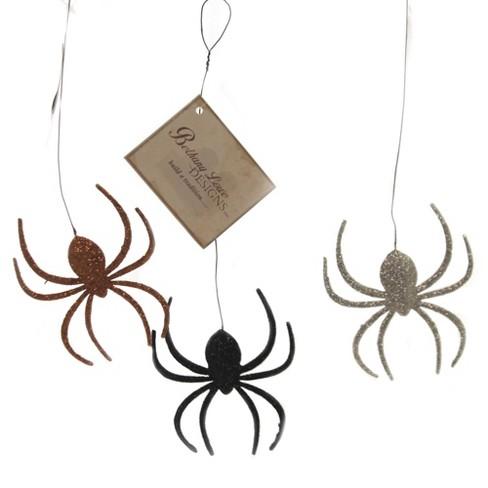 "Halloween 9.5"" Creepy Crawly Spider Tin Orn Spooky - image 1 of 4"