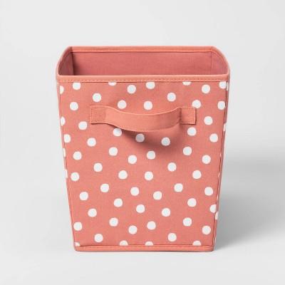 Large Canvas Dot Bin Rose Pink - Pillowfort™