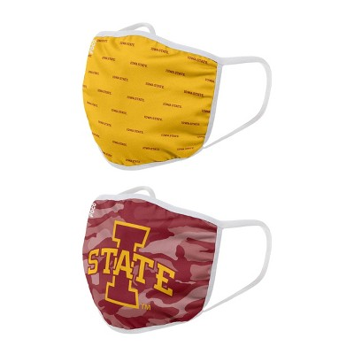 NCAA Iowa State Cyclones Adult Face Covering 2pk