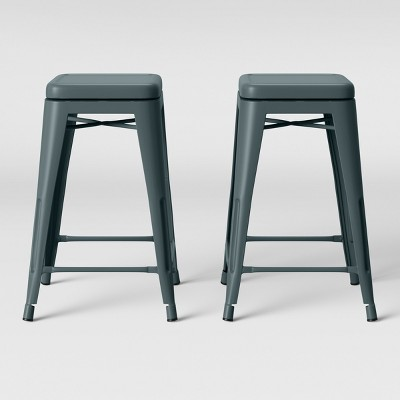 Set of 2 Carlisle Backless Swivel Counter Stool Teal - Threshold™