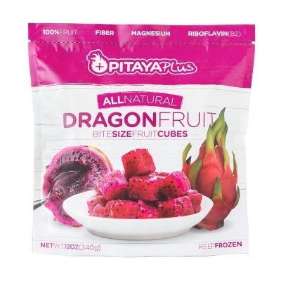 Pitaya Plus Frozen Dragon Fruit Cubes - 12oz