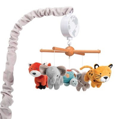 Lambs & Ivy Wild Life Musical Baby Nursery Crib Mobile - Protect the Animals