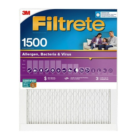 Filtrete Allergen Bacteria and Virus Air Filter 1500 MPR - image 1 of 4