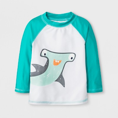 Baby Boys' Hammerhead Shark Rash Guard - Cat & Jack™ Turquoise 12-18M