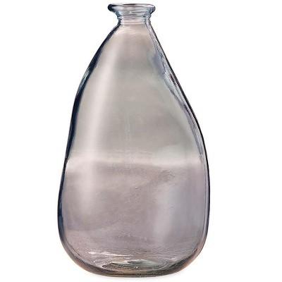 """VivaTerra Oblong Recycled Glass Balloon Vase, 14"""""""