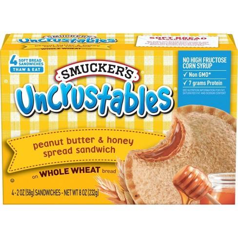 Smucker's Uncrustables Frozen Peanut Butter & Honey Spread Sandwich - 8oz/4ct - image 1 of 4