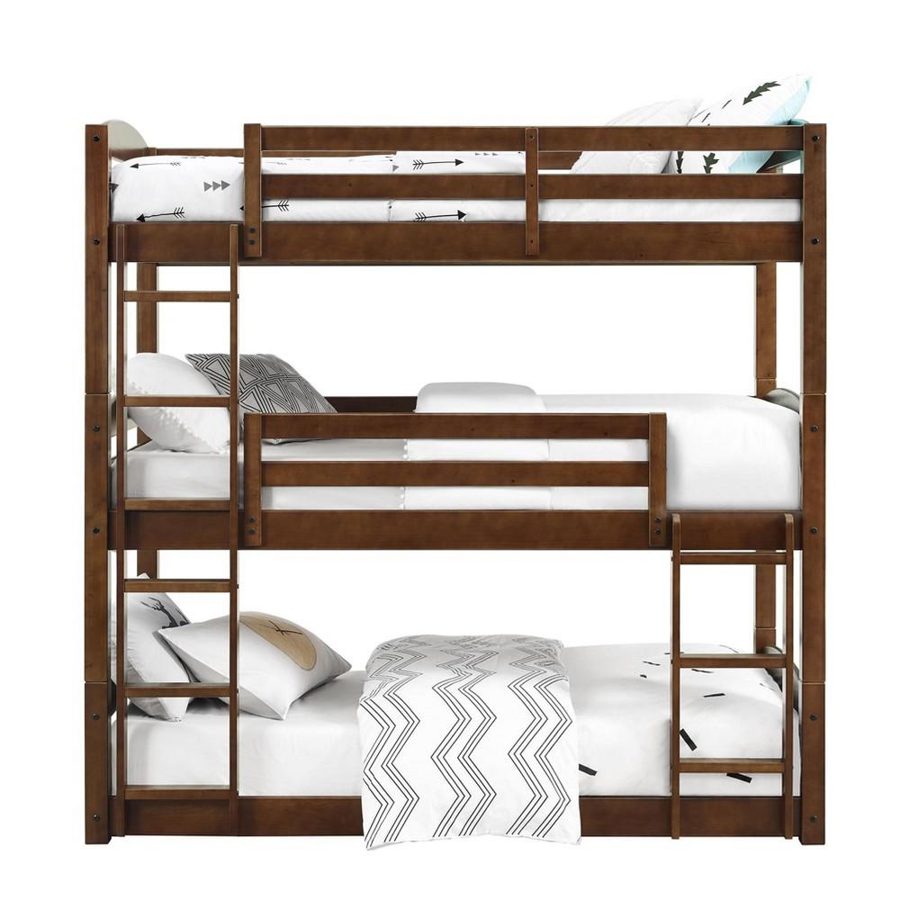 Image of Bertha Triple Bunk Bed Twin Mocha - Dorel Living