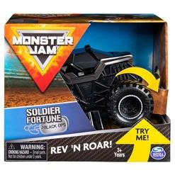 Monster Jam 1:43 Rev & Rumble Trucks Assortment - Soldier Fortune Black Ops