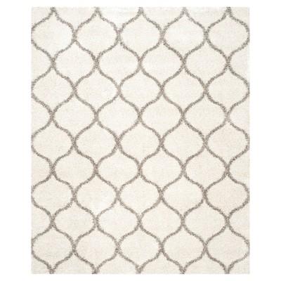 Hudson Shag Rug - Ivory/Gray - (8'X10')- Safavieh