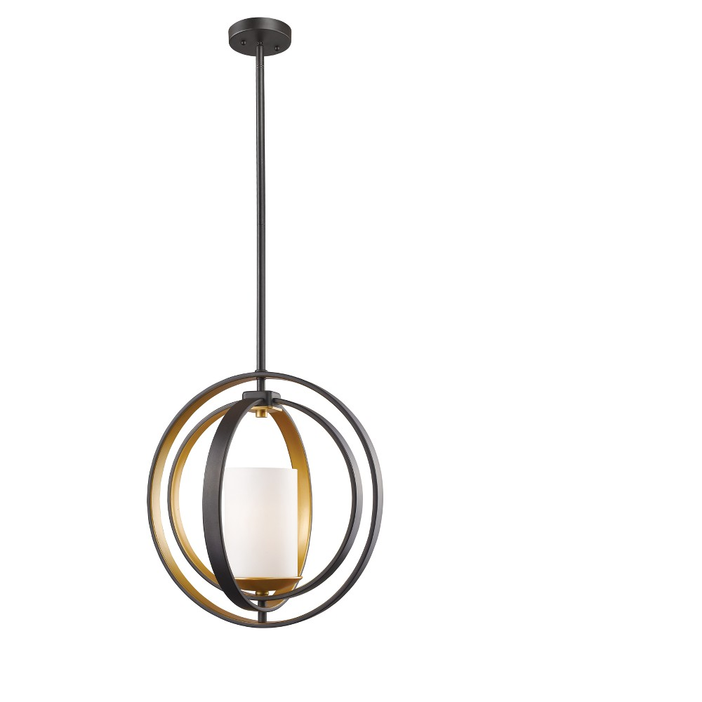 Mini Pendant with Matte Opal Glass Ceiling Lights - Z-Lite, Silver