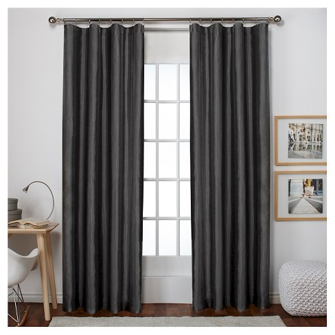 Bolero Faux Silk Blackout Thermal Curtain Panels Pair Exclusive Home - image 1 of 3