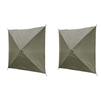 Quick-Set Screen Hub Tent Wind & Sun Panels, Accessory Only (2 pack), Green