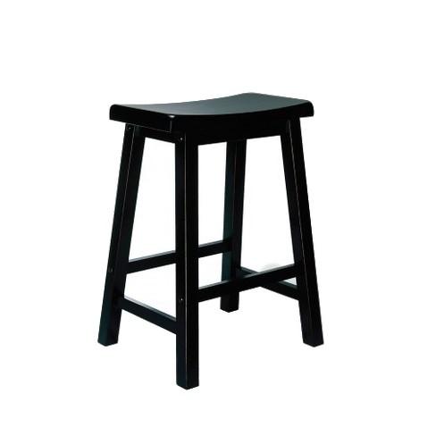 Owen Saddle Seat Stools Hardwood/Black  - Powell Company - image 1 of 1