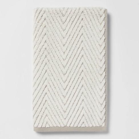 Chevron Textured Towel Cream/Gray - Threshold™ - image 1 of 4