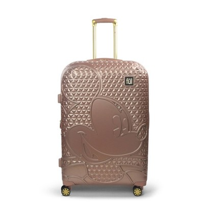 "FUL Disney Mickey Mouse 29"" Hardside Rolling Suitcase - Rose Gold"