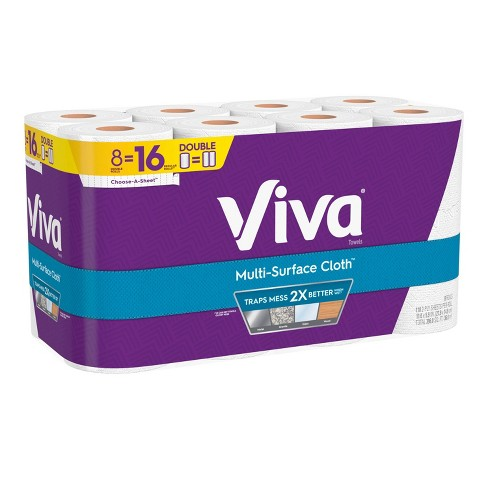Viva Multi-Surface Choose-A-Sheet Paper Towels - 8 Double Rolls - image 1 of 4