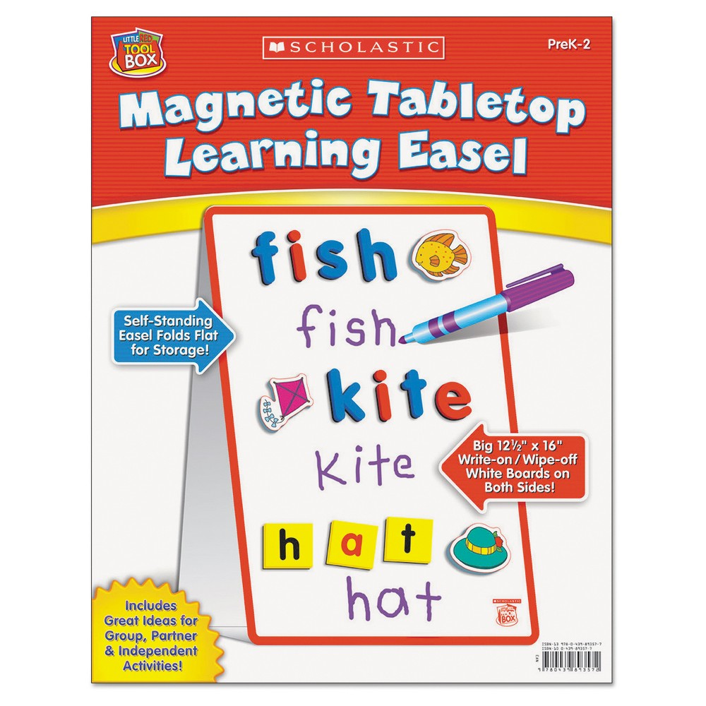 Scholastic Magnetic Tabletop Learning Easel, Ages 4-7, Multi-Colored