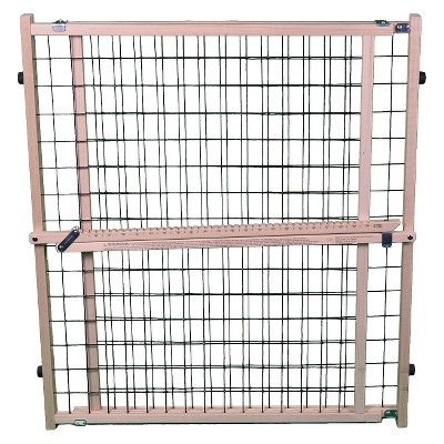 "MyPet Extra Wide Wire Mesh Dog Gate - 29.5""-50 - Brown"
