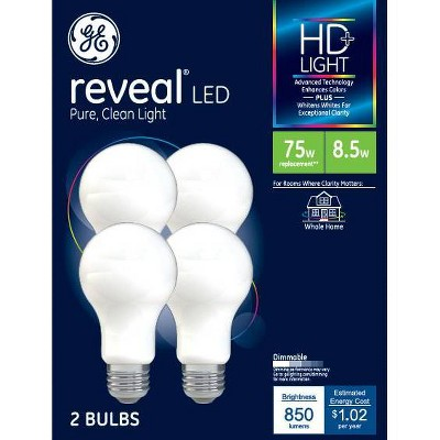 General Electric 75W 4pk Reveal Aline LED Light Bulbs