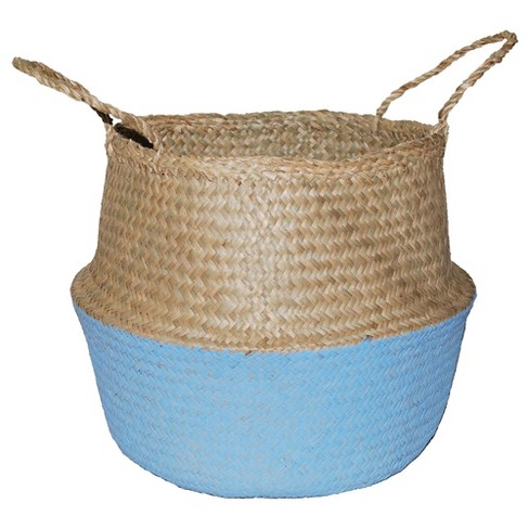 "12.6""x15.75"" Decorative Pop Up Belly Basket Natural Blue - Opalhouse™ - image 1 of 1"