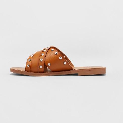 269ecc502d1 Women s Kellan Studded Crossband Slide Sandals - Universal Thread ...