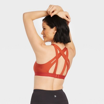 Women's Medium Support Strappy Back Bonded Bra - All in Motion™