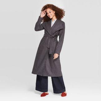 Women's Wool Wrap Coat - A New Day™ Gray XXL