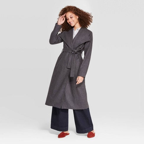 Women's Wool Long Sleeve Wrap Coat - A New Day™ - image 1 of 2